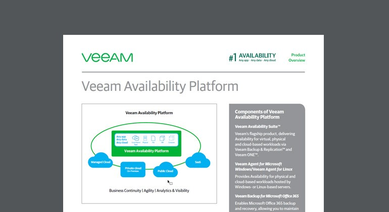 Thumbnail of Veeam Availability Platform datasheet available to download below