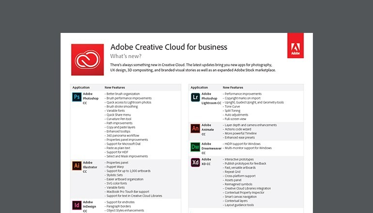 Thumbnail of Creative Cloud for Business datasheet available to download below