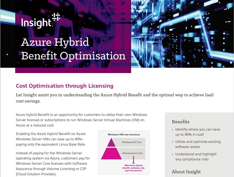 Thumbnail of Azure Hybrid Benefit PDF