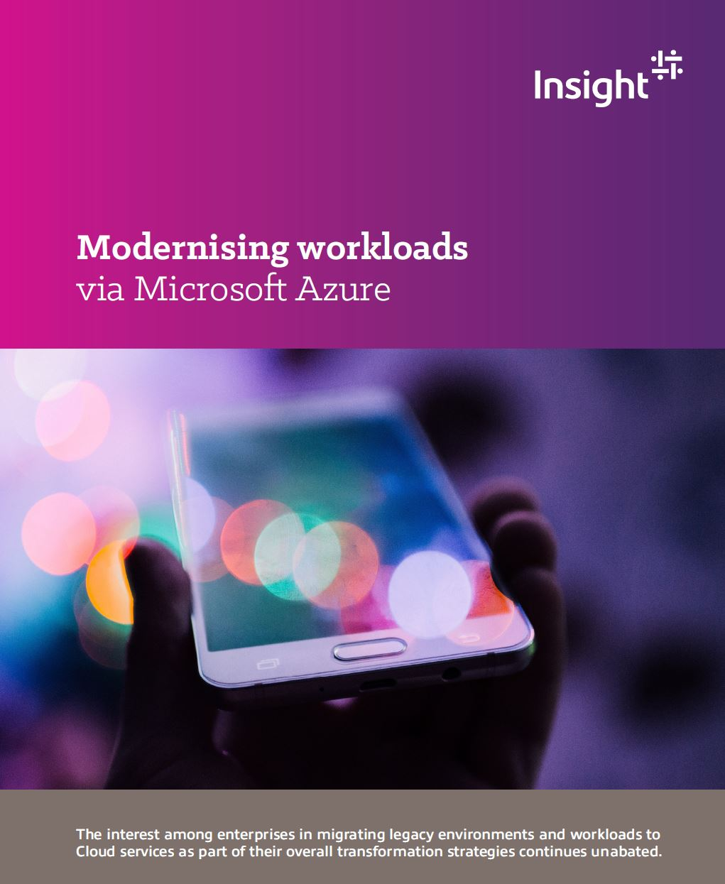 Cover to Modernising Workloads via Microsoft Azure