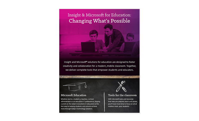 Insight and Microsoft Tools for limitless learning infographic cover