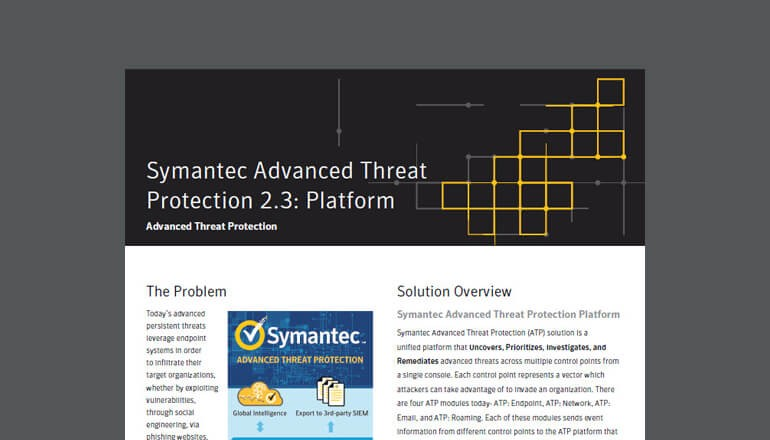Advanced Threat Protection 2.3: Platform brief cover