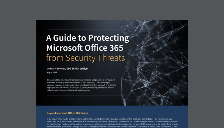 Guide to Protecting Microsoft Office 365 cover