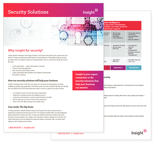 Cover view of Insight Security Solutions datasheet available for download